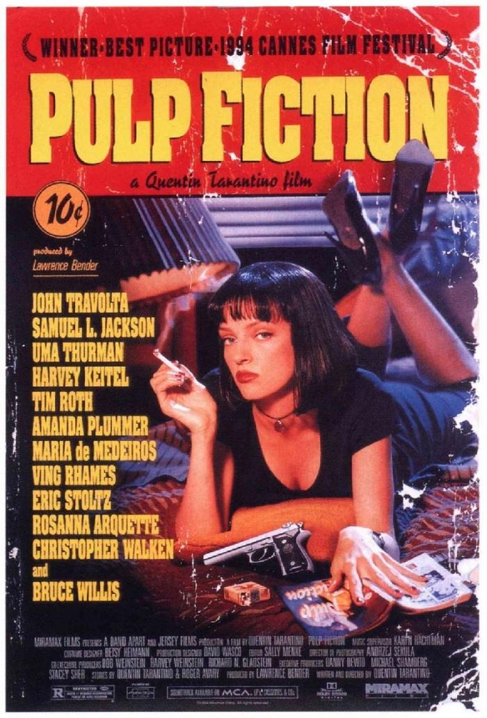 Tiempos violentos (Pulp Fiction, 1994), de Quentin Tarantino